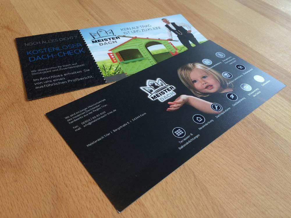 751ee482342d0a Flyer und Einleger für Meisterdach - Professionelles Grafikdesign ...